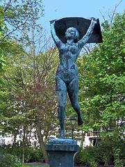 """""""Ο Άνεμος"""" στον κήπο Λεοπόλδου στη Ostend, στο Βέλγιο"""
