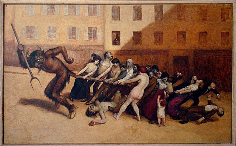 File:Les Parisiens tirant le diable par la queue, Jean Veber (1864-1928), musée Carnavalet.jpg