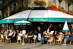 "The ""Deux Magots"" cafe"