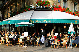 Anna Karina - Les Deux Magots, where Anna Karina was discovered