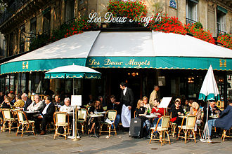 Coffee culture - Les Deux Magots in Paris, once a famous haunt of French intellectuals