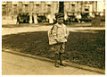 Lewis Hine, Ferris, 7 year old newsie, Mobile, Alabama, 1914.jpg