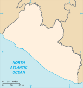 Monrovia is located in Liberia