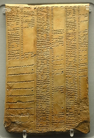 Library of Ashurbanipal - Image: Library of Ashurbanipal synonym list tablet