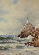 Lighthouse by Alfred Thompson Bricher, watercolor .jpg