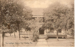 Fort Meade, Florida - Lightsey House pictured in a 1907 postcard