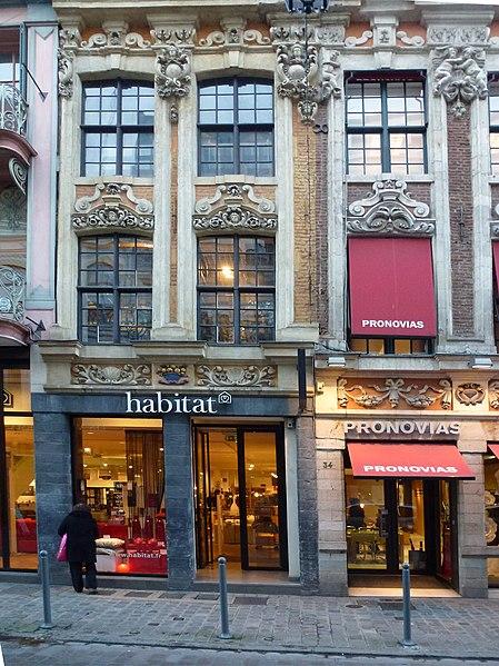 File lille 32 36 rue esquermoise wikimedia commons - Magasin meuble lille rue esquermoise ...