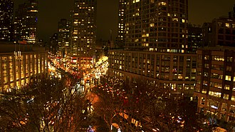 Lincoln Square, Manhattan - Lincoln Square at night