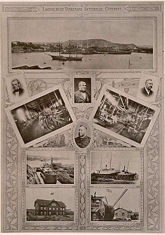 Lindholmens - Lindholmen lithograph from 1894
