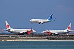 Lion Air Boeing 737s and Garuda Indonesia Boeing 737-800 at DPS.jpg