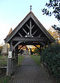 Little Berkhamsted, Hertfordshire, St Andrew's Church 19 - Lychgate from southwest.jpg