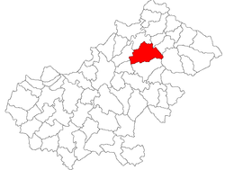 Location of Livada, Satu Mare