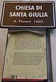 Livorno Chiesa di Santa Giulia sign 01.JPG