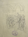 Lix F.T. - Graphite - Scène de banquet (projet d'illustration) - feuille 23x17cm.jpg
