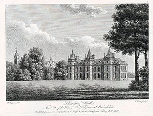 Llewenni Hall: the seat of the honble Thos Fitzmaurice, Denbighshire