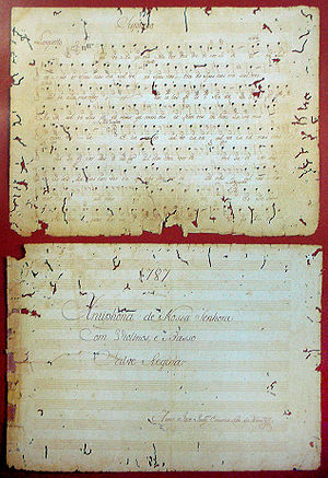 Hymns to Mary - Salve Regina manuscript, 1787.