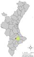 Localització d'Agres respecte el País Valencià.png