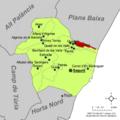 Localització de Benavites respecte del Camp de Morvedre.png