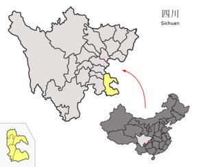 Location of Luzhou Prefecture within Sichuan (China).png
