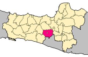 Magelang Regency - Image: Locator kabupaten magelang