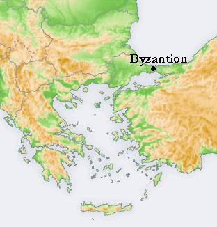 Locator map Byzantion