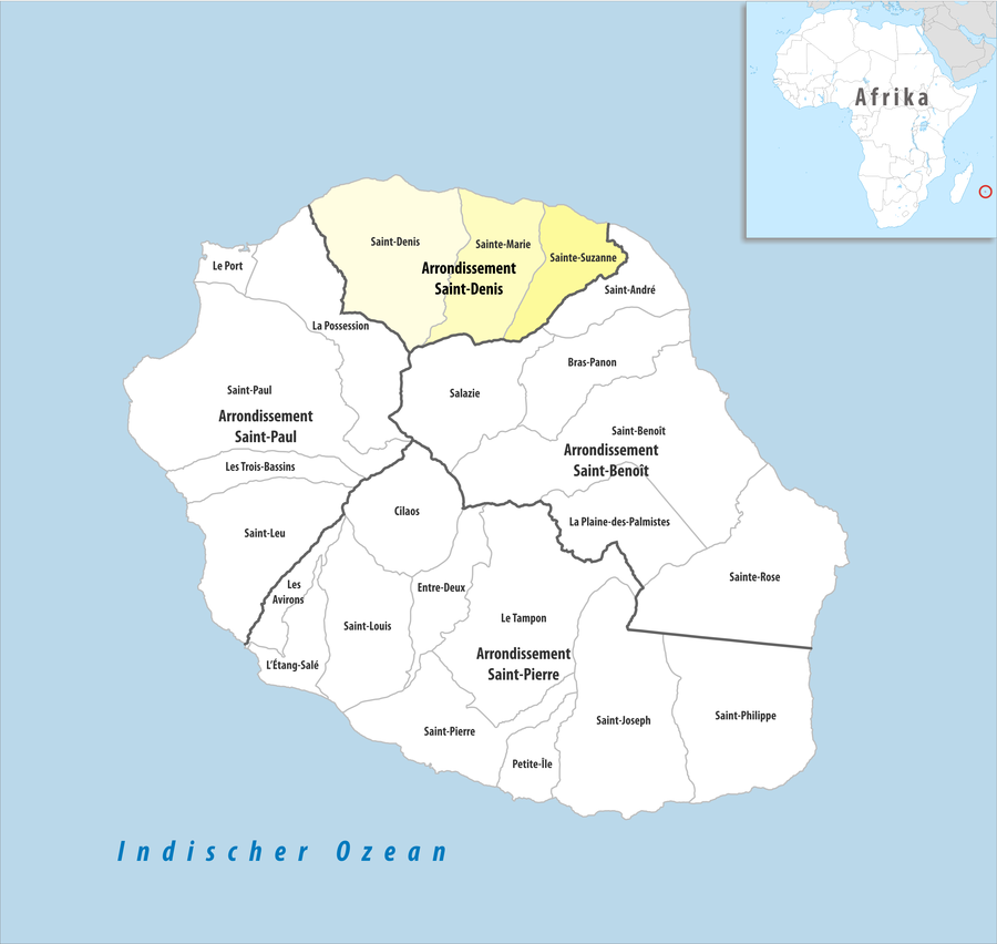 Arrondissement of Saint-Denis, Réunion