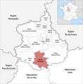 Locator map of Kanton Châteaudun 2019.png