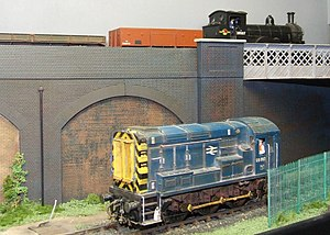 7 mm scale - O gauge layout at the Trains and Boats exhibition