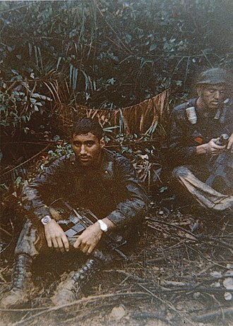 Long-range reconnaissance patrol - US Rangers: LRRP team leader and radiotelephone operator, Vietnam, 1968