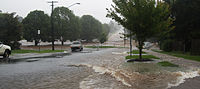 Long and Mackenzie Streets in Toowoomba flooded.jpg