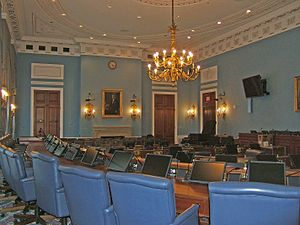 United States House Committee on Agriculture - The main hearing room for the House Agriculture Committee in 1300 Longworth House Office Building in Washington, D.C.