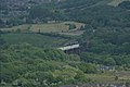 Looking long distance towards Dinting Viaduct, Glossop, Derbyshire, June 2013. - panoramio.jpg