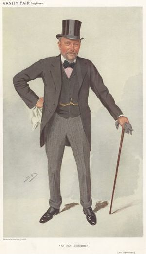 """Arthur Smith-Barry, 1st Baron Barrymore - """"An Irish Landowner"""". Lord Barrymore as caricatured by Spy (Leslie Ward) in Vanity Fair, August 1910"""