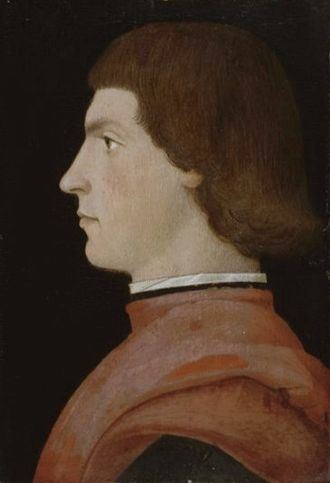 Louis II de la Trémoille - Portrait of Louis II de la Trémoille by Domenico Ghirlandaio or one of his assistants.