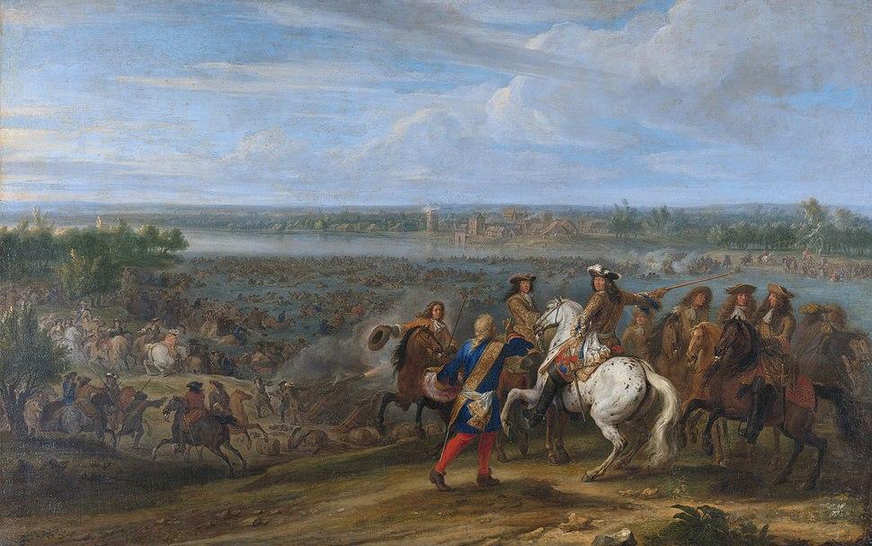 Louis XIV crosses the Rhine at Lobith - Lodewijk XIV trekt bij het Tolhuis bij Lobith de Rijn over, 12 juni 1672 (Adam Frans van der Meulen)