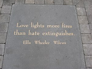 Ella Wheeler Wilcox - Ella's poem plaque at San Francisco's Jack Kerouac Alley.