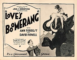 Love's Boomerang - Lobby card