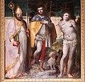 Luca cambiaso, santi rocco, erasmo e sebastiano, 1550, 04.JPG