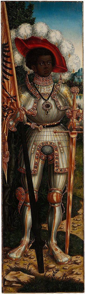 Portrait of an African Man - Image: Lucas Cranach d.Ä. Der heilige Mauritius