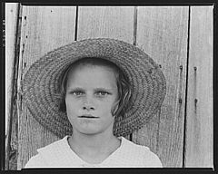 Lucille Burroughs, daughter of a cotton sharecropper. Hale County, Alabama.jpg