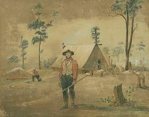 Ludwig Becker (explorer) - Bendigo by Ludwig Becker, 1853 watercolour