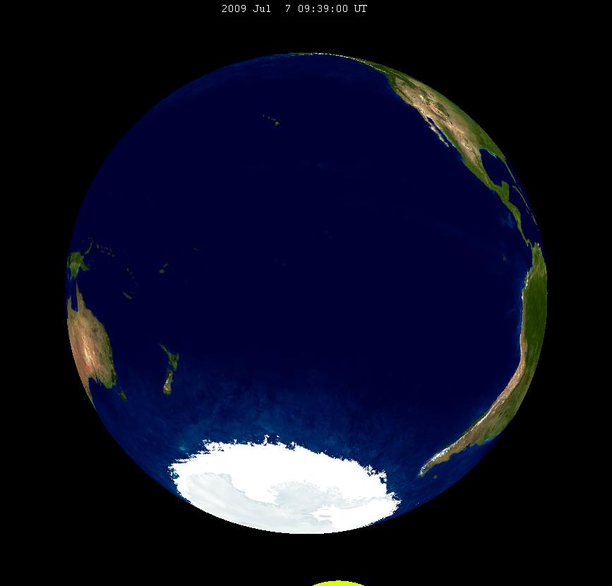 Lunar eclipse from moon-2009Jul07