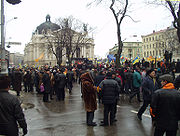 Manifestacja na ulicach Lwowa, 26.11.2004