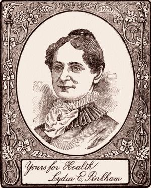 Lydia Pinkham - Lydia E. Pinkham (from a 1904 pamphlet)