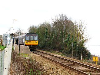 Lympstone Commando railway station - A train to Exeter