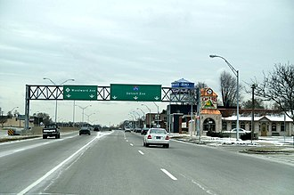 M-1 (Michigan highway) - Image: M 1 at I 696