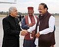 M. Venkaiah Naidu being bid farewell by the Governor of Uttarakhand, Shri Krishan Kant Paul and the Chief Minister of Uttarakhand, Shri Trivender Singh Rawat, on his departure, in Dehradun, Uttarakhand.jpg