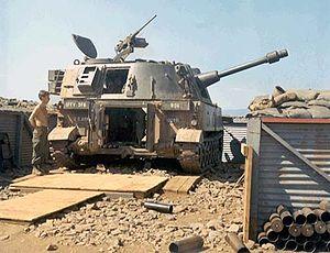 M108 howitzer - An M108 self-propelled howitzer in Vietnam.