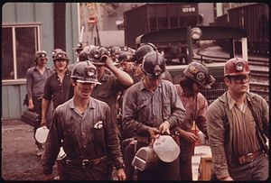 Economy of Virginia - Miners at the Virginia-Pocahontas Coal Company Mine in 1974
