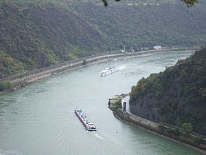 Middle Rhine -  View from the Loreley